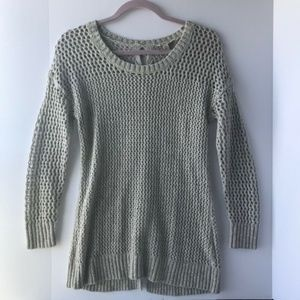 Lucky Brand | Gray Tie Back Open Knit Sweater, XS